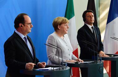 Меркель, Олланд и Ренци договорились не вести переговоров с Британией по Brexit до запуска процесса выхода страны из ЕС
