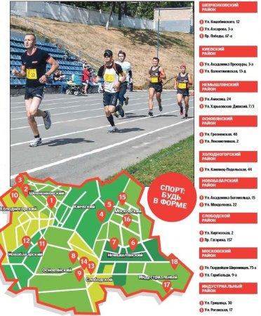 Будь в форме: где заняться бегом в Харькове