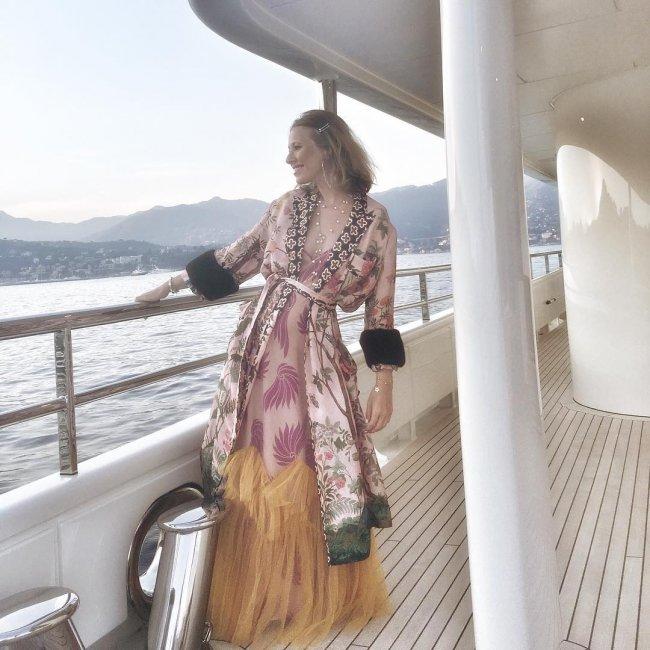 Ксения Собчак на яхте смутила
