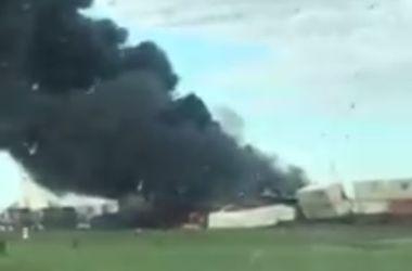 В США столкнулись два поезда (видео)