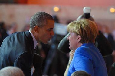 Обама обсудил с Меркель ситуацию в Украину и Сирии