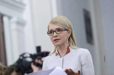 Тимошенко требует рассмотреть в Раде законопроект о запрете отбирать жилье за долги