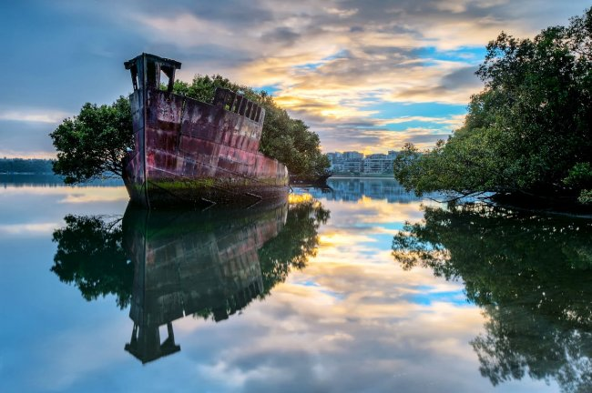 Заброшенный корабль SS Ayrfield