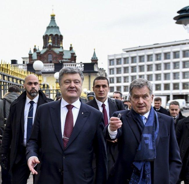 Порошенко в Финляндии: «Вы лучше всех понимаете Украину»